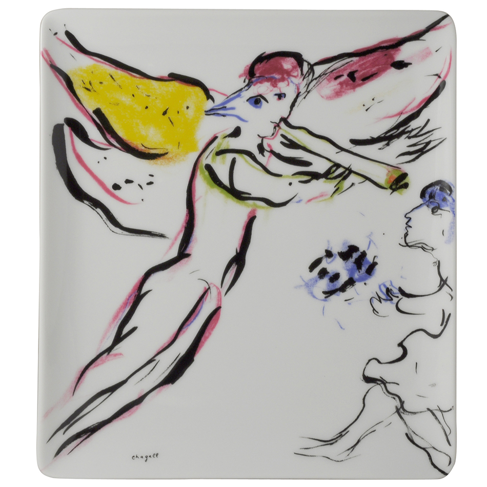 Plateau 21x17cm<br>L'ange rouge<br>Marc Chagall