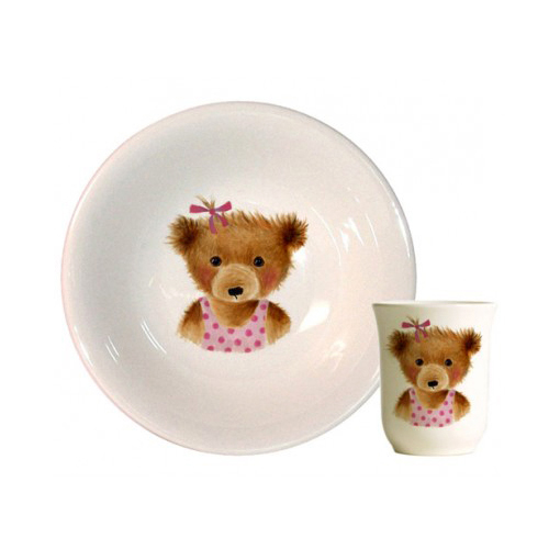 Coffret timbale et coupelle<br>Ours fille