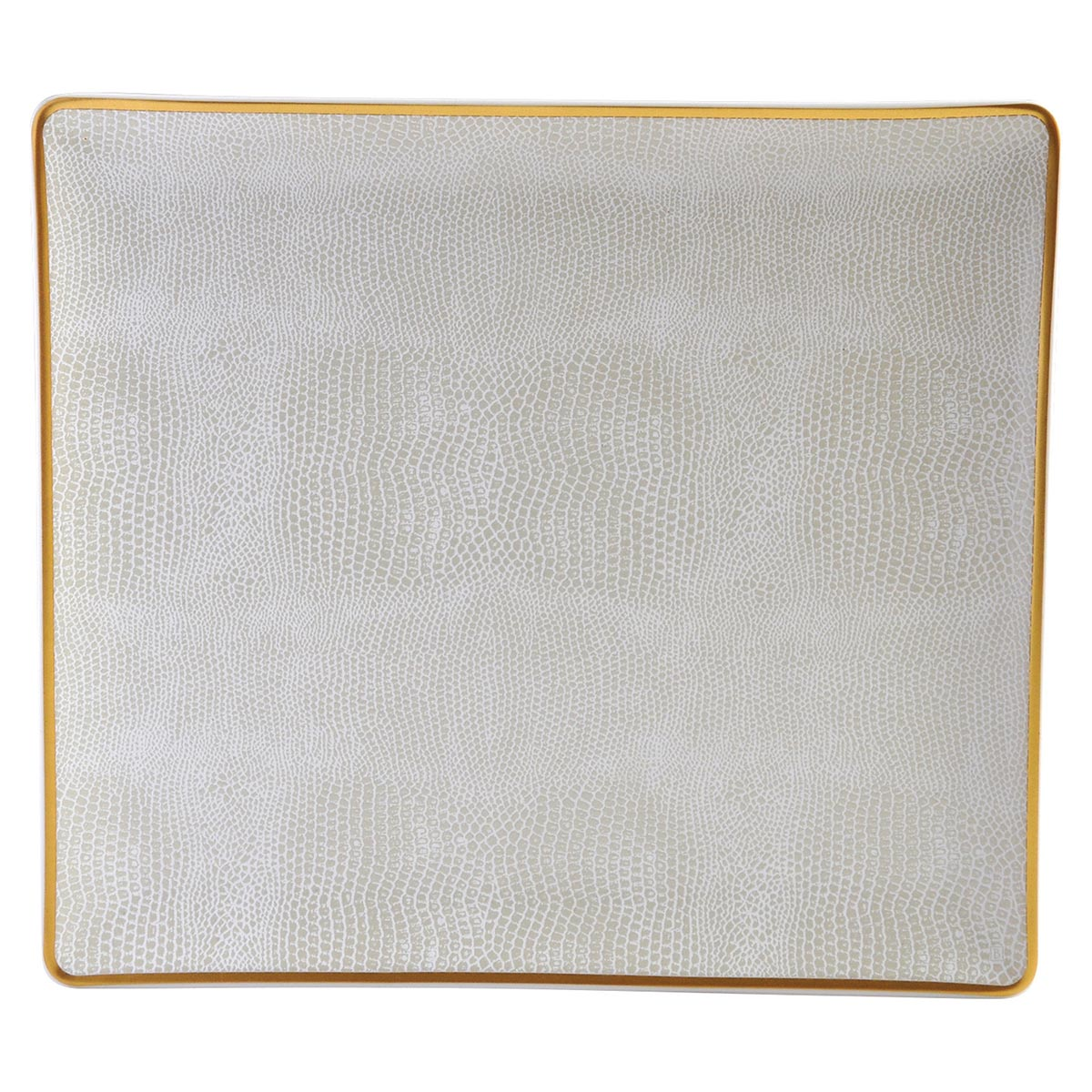 Rectangular tray<br>L: 22cm, l: 19.5cm<br>Sauvage Or