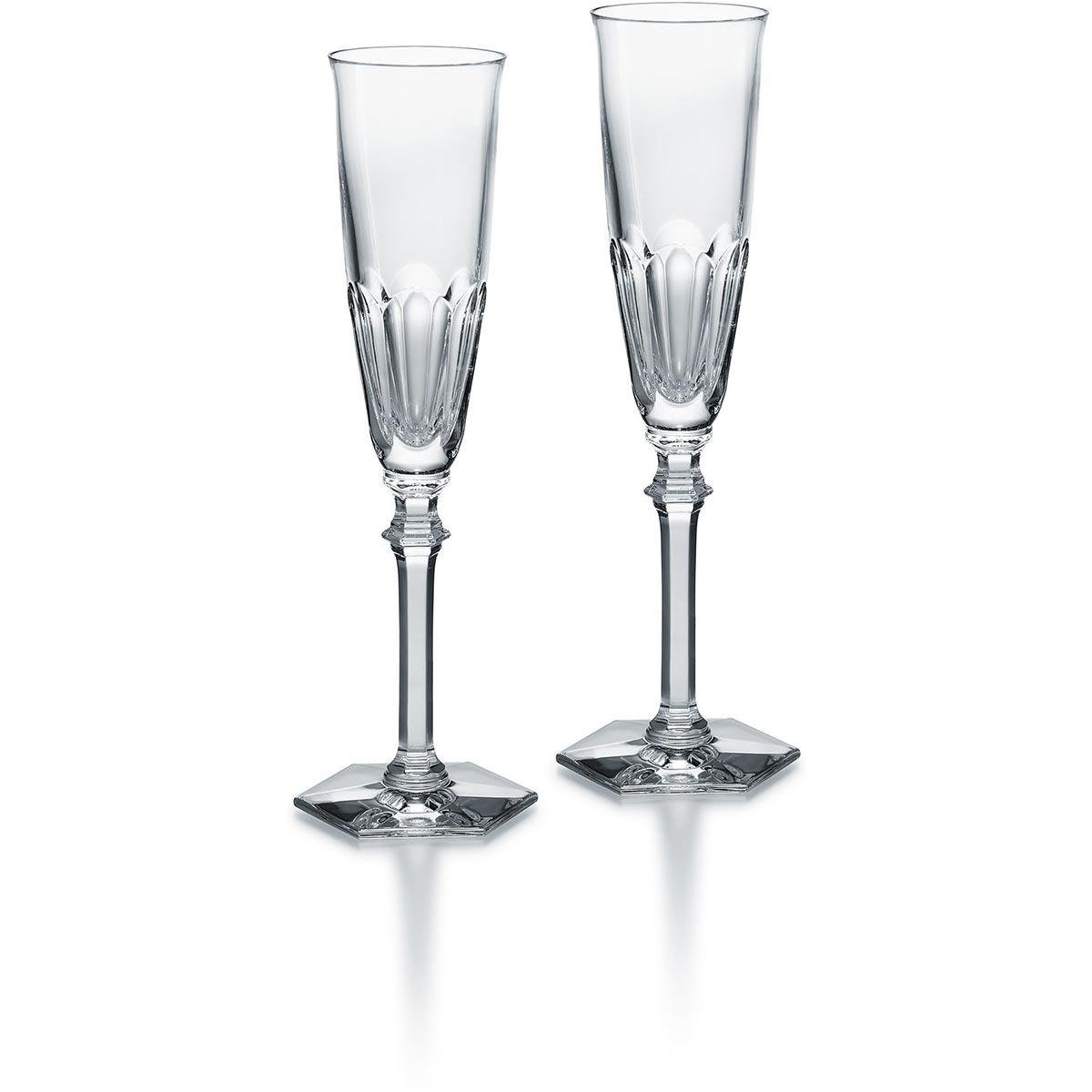 Set of 2 champagne flutes clear<br>17cl, H: 24.5cm, D: 5.8cm<br>Harcourt EVE