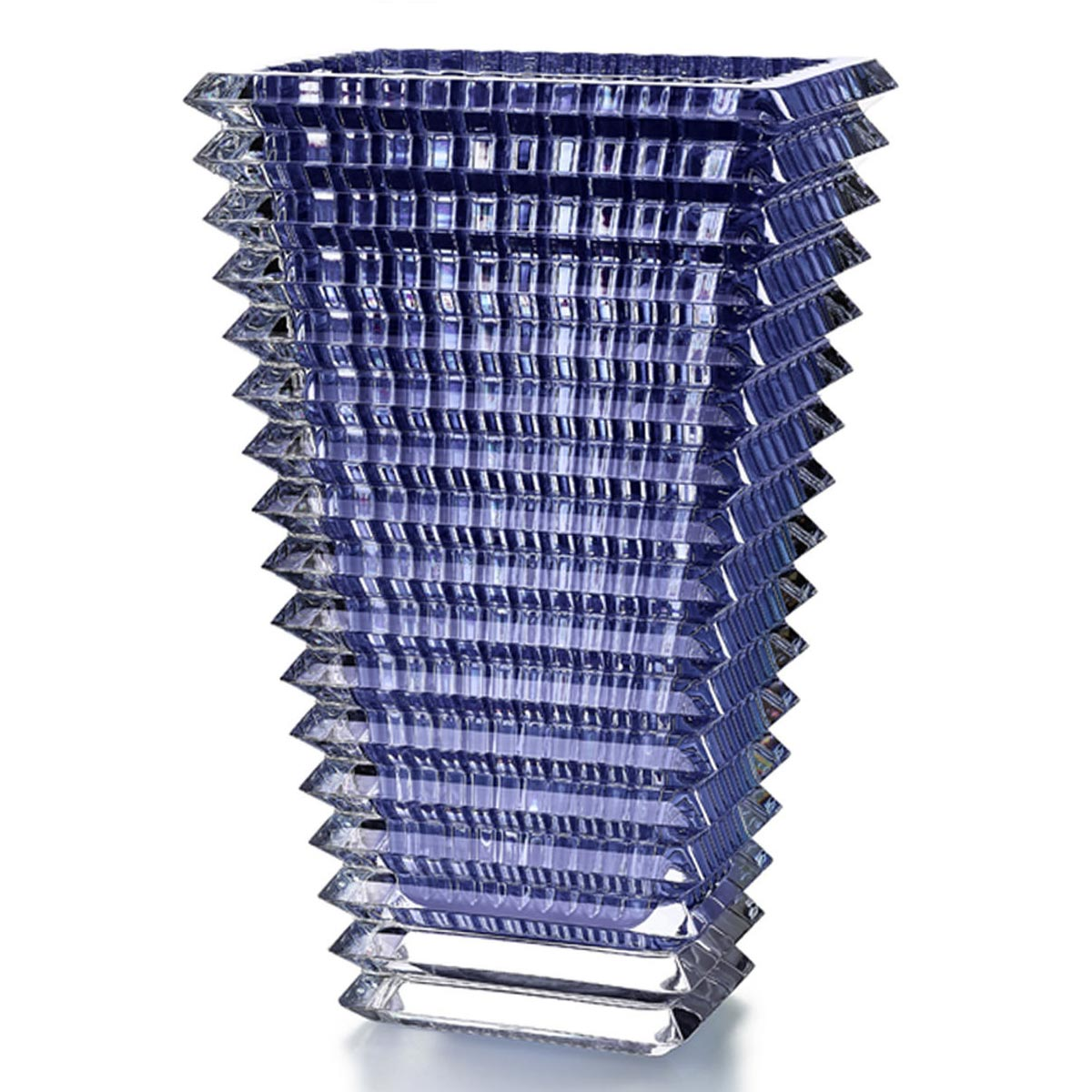 Vase rectangular blue<br>H: 30cm, l: 13.5cm, L: 18.7cm<br>Eye