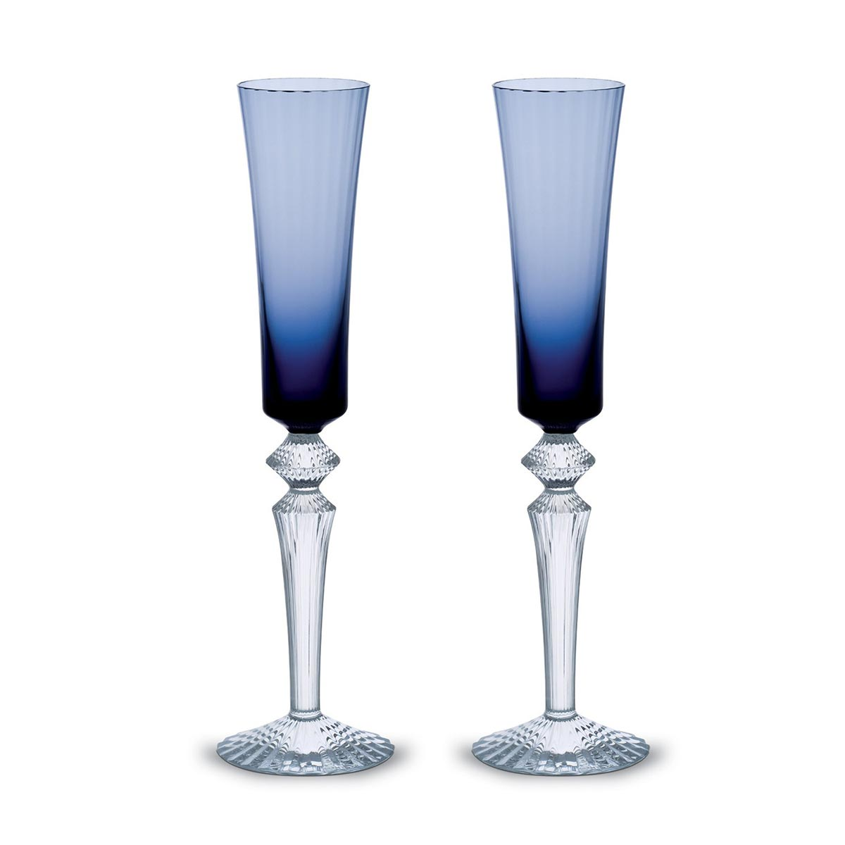 Set of 2 flutissimo midnight<br>17cl, H: 29cm<br>Mille Nuits