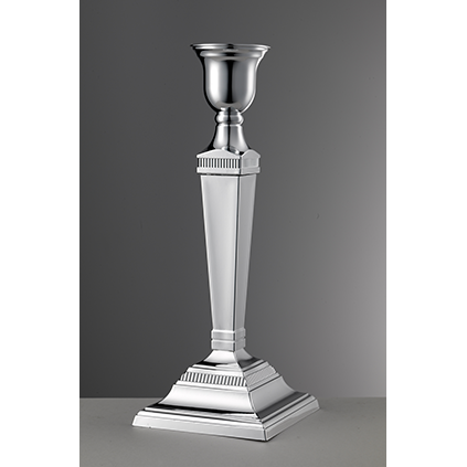 Candle Holder Silver<br>H: 29.5cm, D: 11.5cm<br>Napoleone