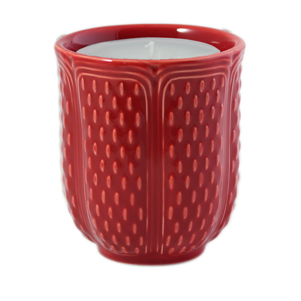 Scented candle<br>H: 9.4cm, D: 8.2cm<br>Pont aux choux red
