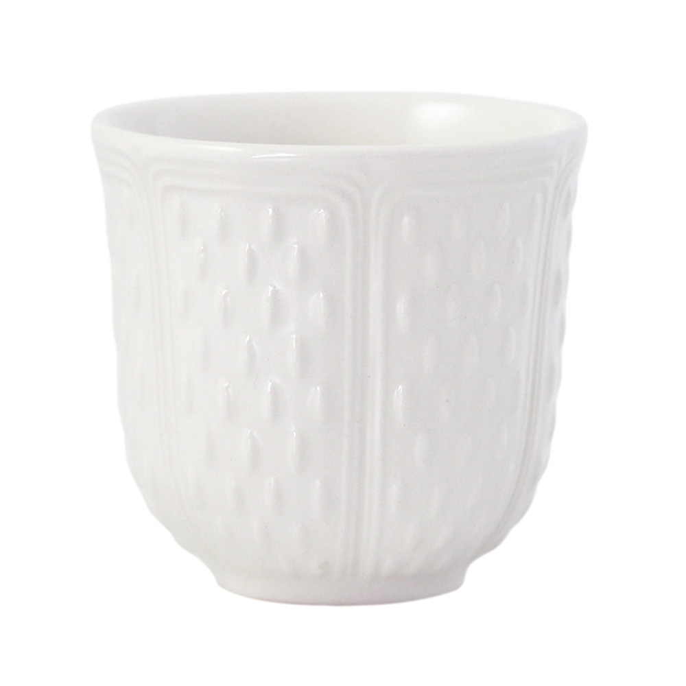 Set of 2 espresso cups<br>8.5cl, H: 6cm<br>Pont aux choux white