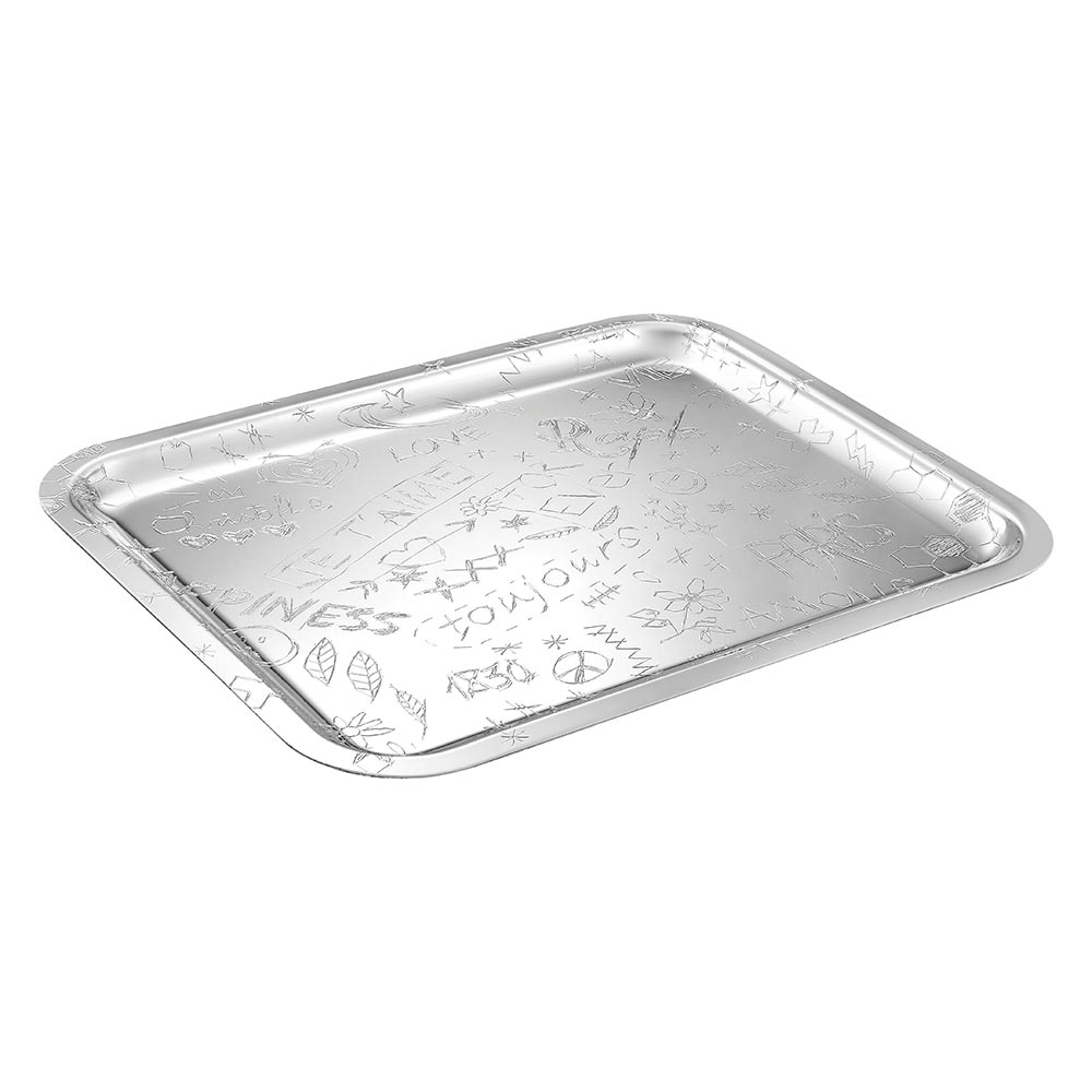 Rectangular tray<br>L: 36cm, l: 28cm<br>Graffiti