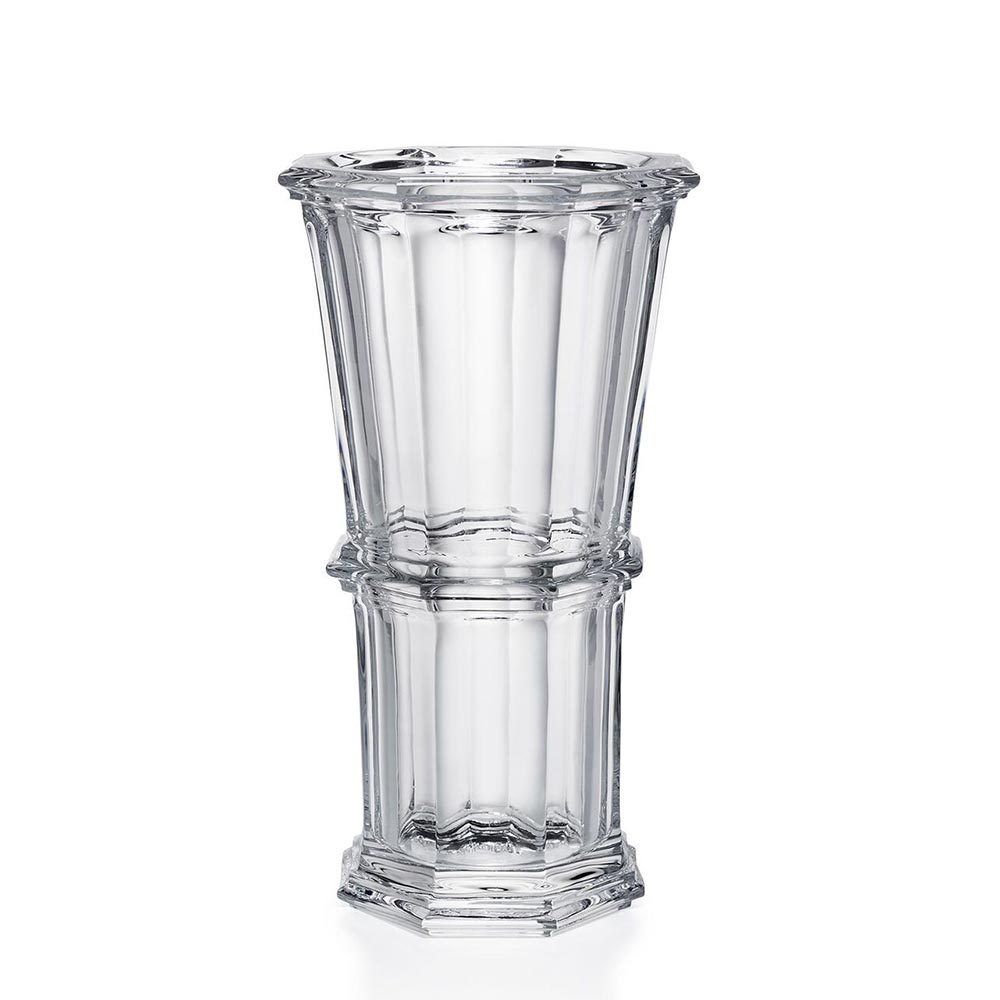 Vase clair octogonal Medium<br>H: 23cm<br>Harcourt