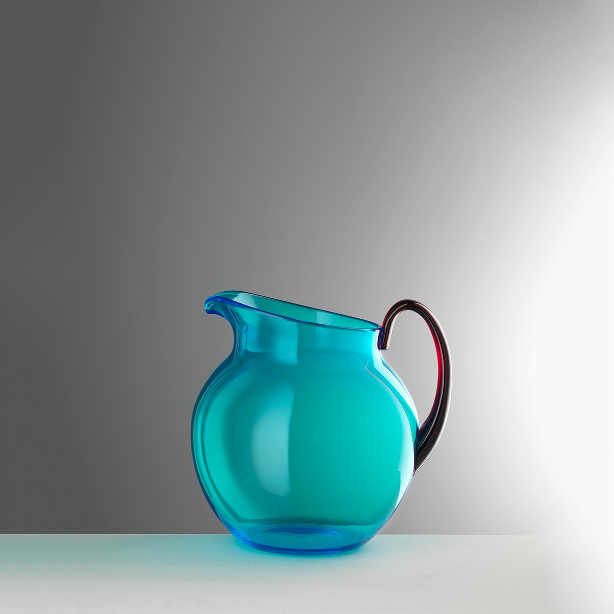 Pitcher small turquoise/ruby<br>H: 19cm<br>Pallina