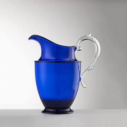 Pitcher blue<br>H: 21.5cm<br>Federica