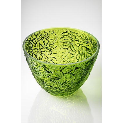 Salad Bowl Green<br>H:19.5, D:28 cm