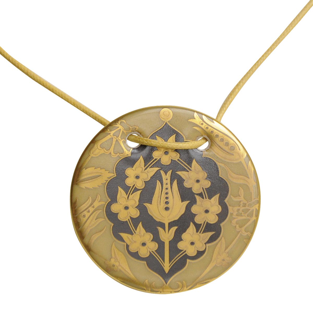 Pendentif Gong<br>Sultane Ocre