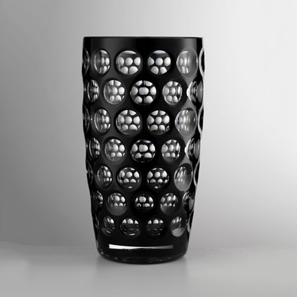 Water glass tall black<br>H: 16cm, D: 8cm<br>Lente